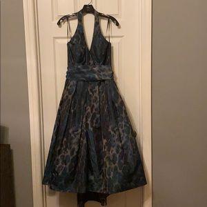 Stunning Leopard Halter Dress